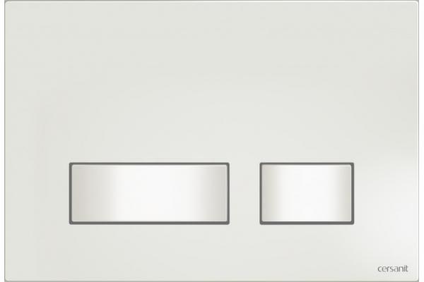Кнопка смыва Cersanit Movi BU-MOV/Wh, пластиковая, белый универсальная