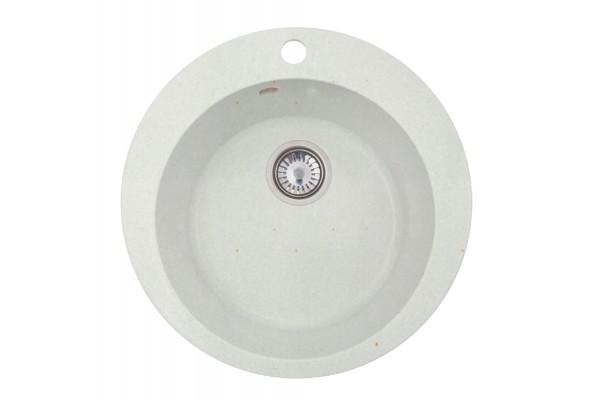 Мойка Эмили (Веста) 500*500 мм, белый с сифоном