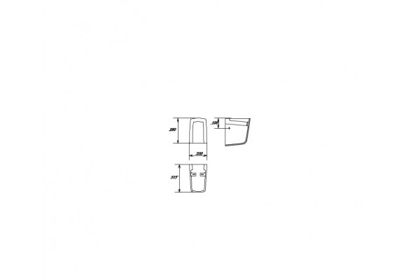 Пьедестал для раковины Cersanit Carina PP-CA50/55/60