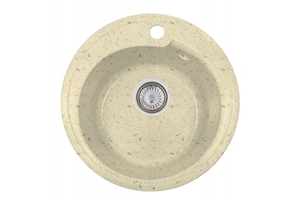 Мойка Рондо (Капри) 437*437 мм, колорадо с сифоном