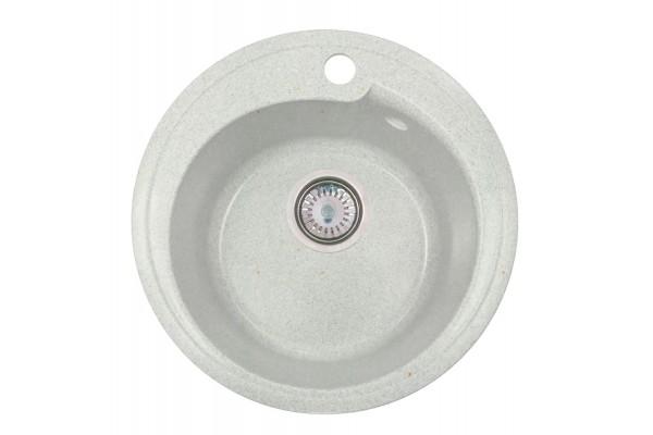 Мойка Рондо (Капри) 437*437 мм, белый с сифоном