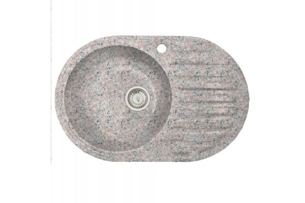 Мойка Вэлл (Каролина) 740*485 мм, терра с сифоном