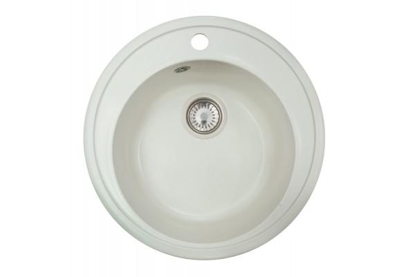 Мойка Виктория (Медея) 502*502 мм, белый с сифоном