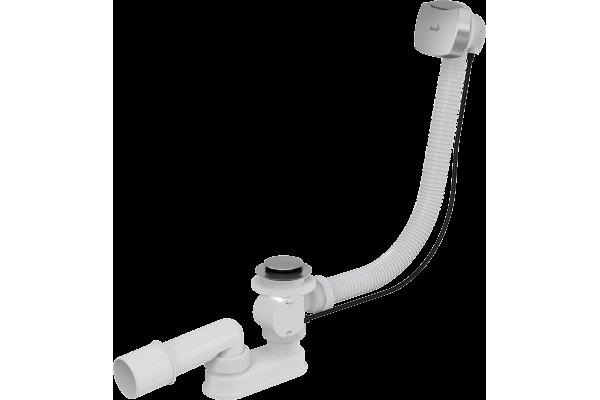Сифон для ванны Alca Plast,автомат, хромированный, A51CR, квадратный