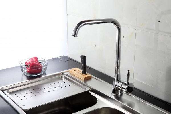Смеситель Alcora Tiara для кухни, высокий излив, хром