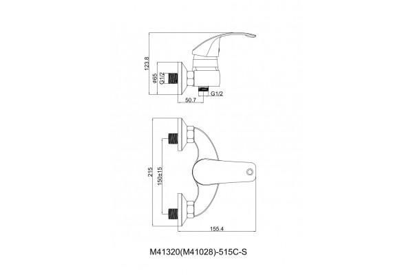 Душевой комплект Lasko Bufo для душевой кабины, хром