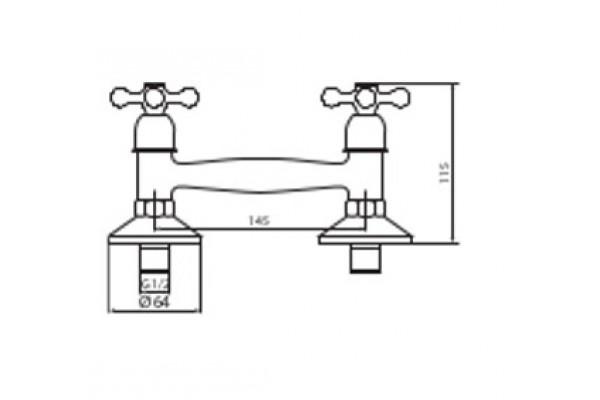 Душевой комплект Lasko Atra New для ванны, длинный излив