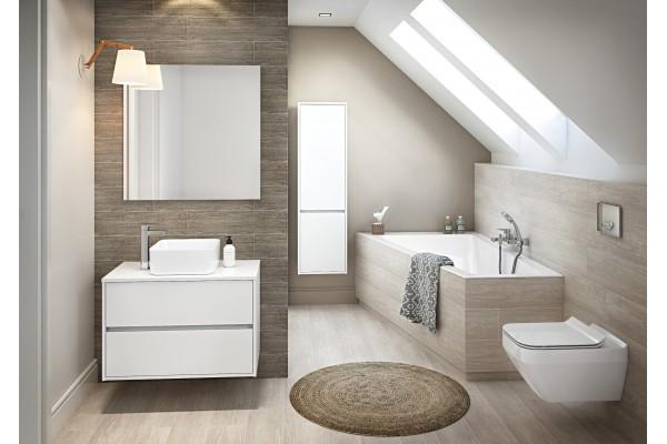 Акриловая ванна Cersanit Crea WP-CREA*160-RNL 160x100, правая, ультра белый