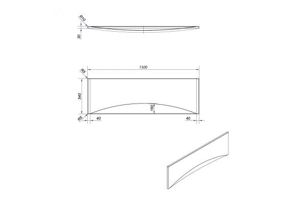 Экран под ванну Cersanit Virgo/Intro 150 см