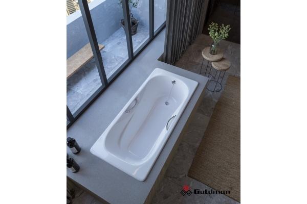 Чугунная ванна Goldman Donni, 150х75х42 сотверстиями для ручек