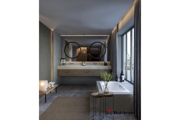 Чугунная ванна Goldman Donni, 170х75х42 с отверстиями для ручек