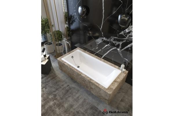 Чугунная ванна Goldman Elite, 180х80х45