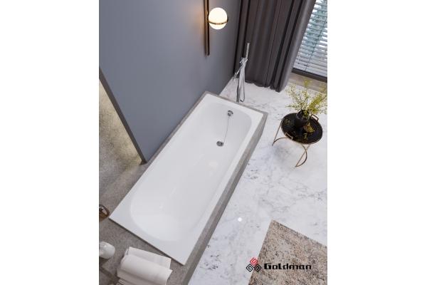 Чугунная ванна Goldman Real, 170х70х45