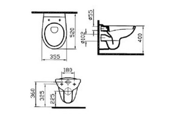 Унитаз подвесной Vitra Normus 6855В003-0101, безободковый, микролифт