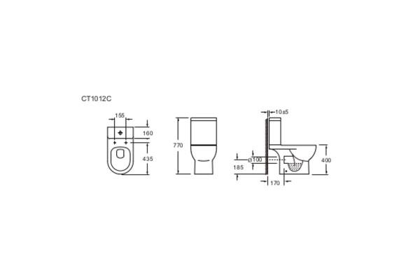 Унитаз-компакт Alcora Esperanza CT1012C, с сиденьем дюропласт, микролифт