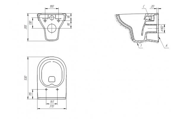Унитаз подвесной Cersanit City New Clean On, безободковый, микролифт