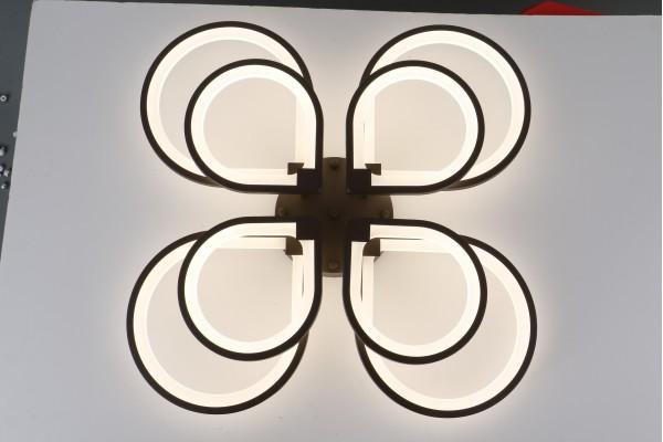 Люстра Omento 39035-4+4 Coffee, LED 256W (88*11)