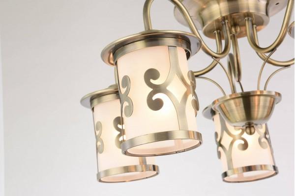 Люстра Lanterna bronze GH35037-5,5xE27/40W(54*54*25)