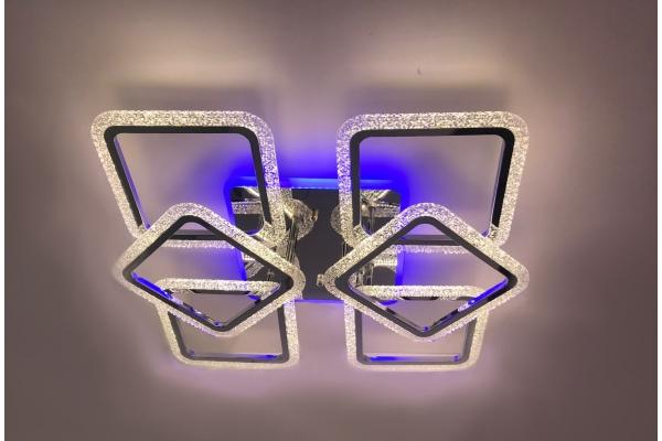 Люстра Schaffner Estero 39205-6-DA-TL CR, LED 180W+36W, с пультом
