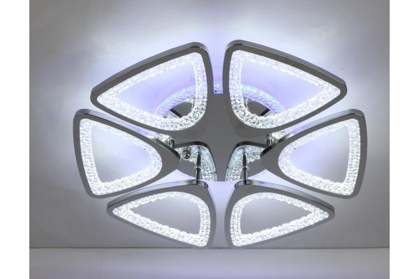 Люстра Schaffner Peligroso Chrome 39040-6-DA-TL, LED 132W+22W, с пультом