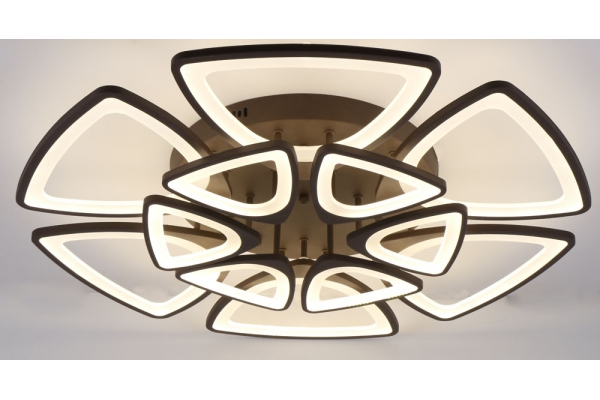 Люстра Schaffner Peligroso Coffee 39083-6+6, LED 348W, с пультом