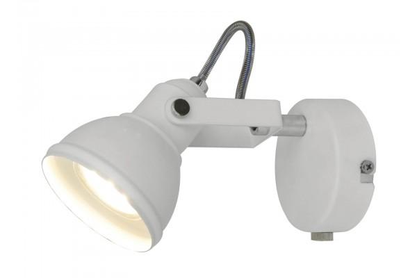 Спот Borde LED16026-1R(GU10) WH, 1xGU10/50W (8*13.5*18.5)